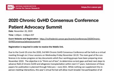 2020 Chronic GvHD Consensus Conference Patient Advocacy Summit