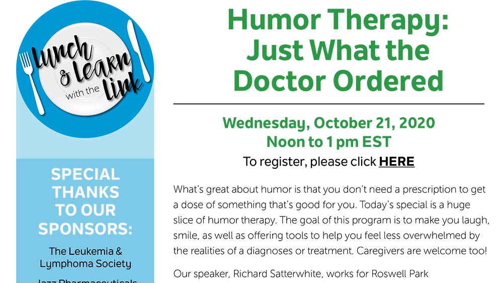 nbmtLINK Lunch & Learn: Humor Therapy – Just What the Doctor Ordered