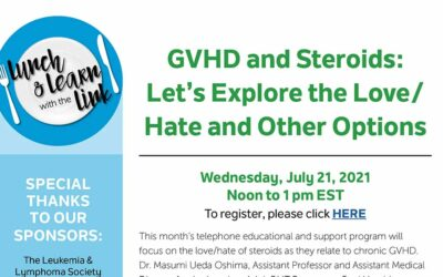 nbmtLINK Lunch & Learn: GVHD and Steroids – Let's Explore the Love/Hate and Other Options