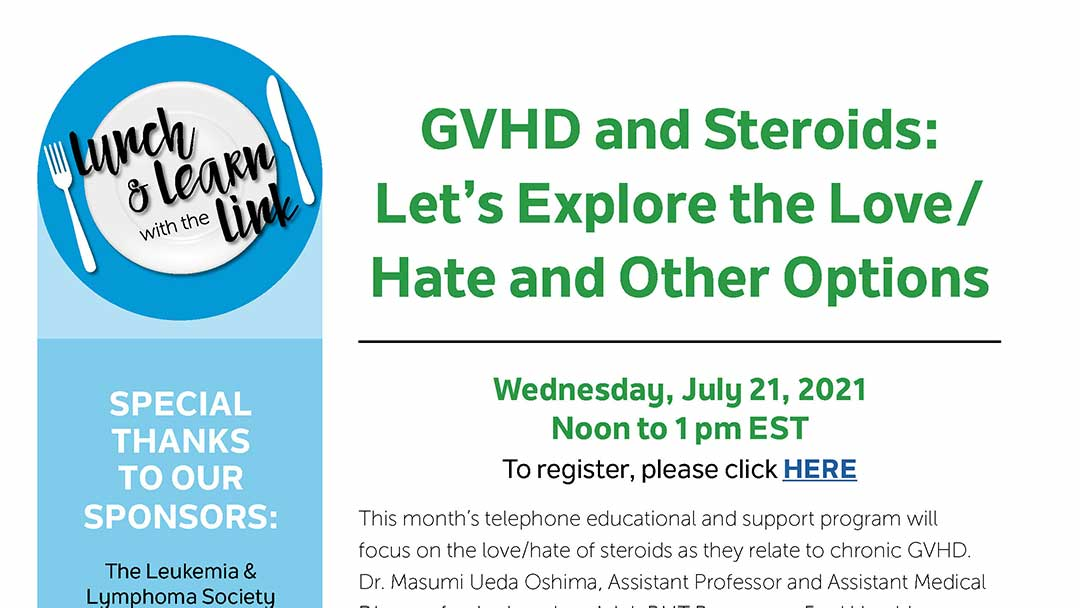 nbmtLINK Lunch & Learn GVHD and Steroids small